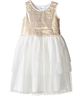 Kardashian Kids - Sequin Bodice Dress with Mesh Layer Skirt (Toddler/Little Kids)