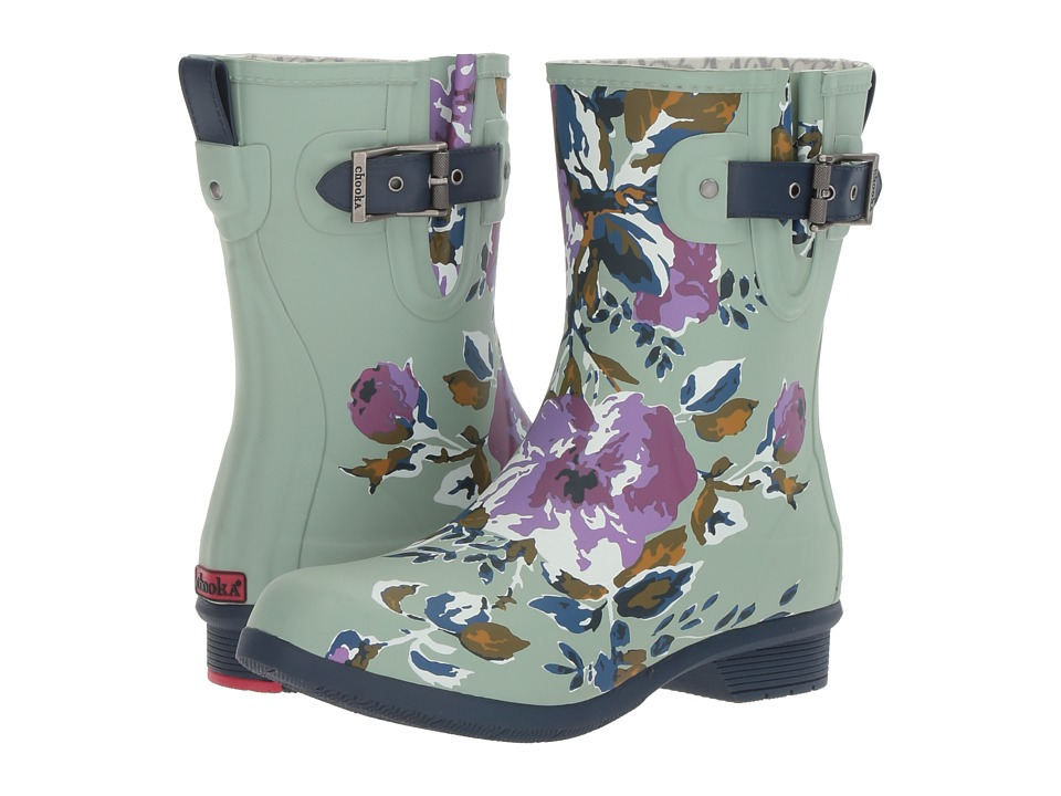Ladies Victorian Boots & Shoes – Granny boots Chooka - Classic Mid Alice Sage Matte Womens Rain Boots $55.99 AT vintagedancer.com