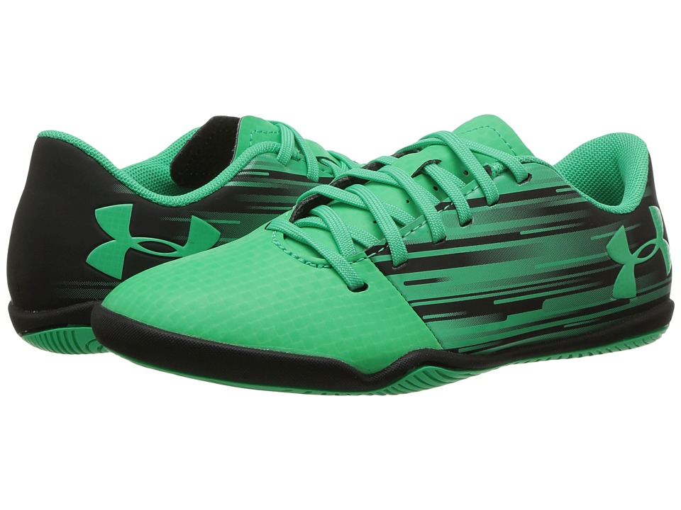 Under Armour Kids Spotlight IN Jr. Soccer (Little Kid/Big Kid) (Black/Viper Green) Kids Shoes