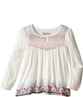 Lucky Brand Kids - Long Sleeve Peasant Top w/ Embroidery and Printed Bottom (Toddler)