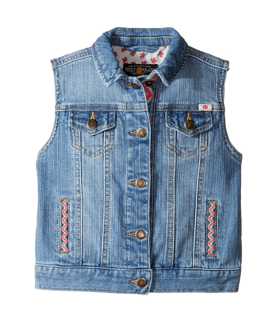 Lucky Brand Kids - Denim Vest w/ Embroidery