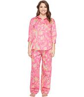 LAUREN Ralph Lauren - Petite Sateen 3/4 Sleeve Pajama