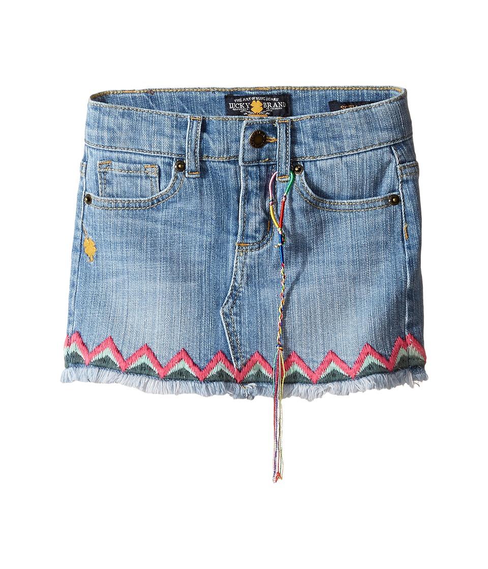Lucky Brand Kids - Denim Mini Skirt w/ Embroidery
