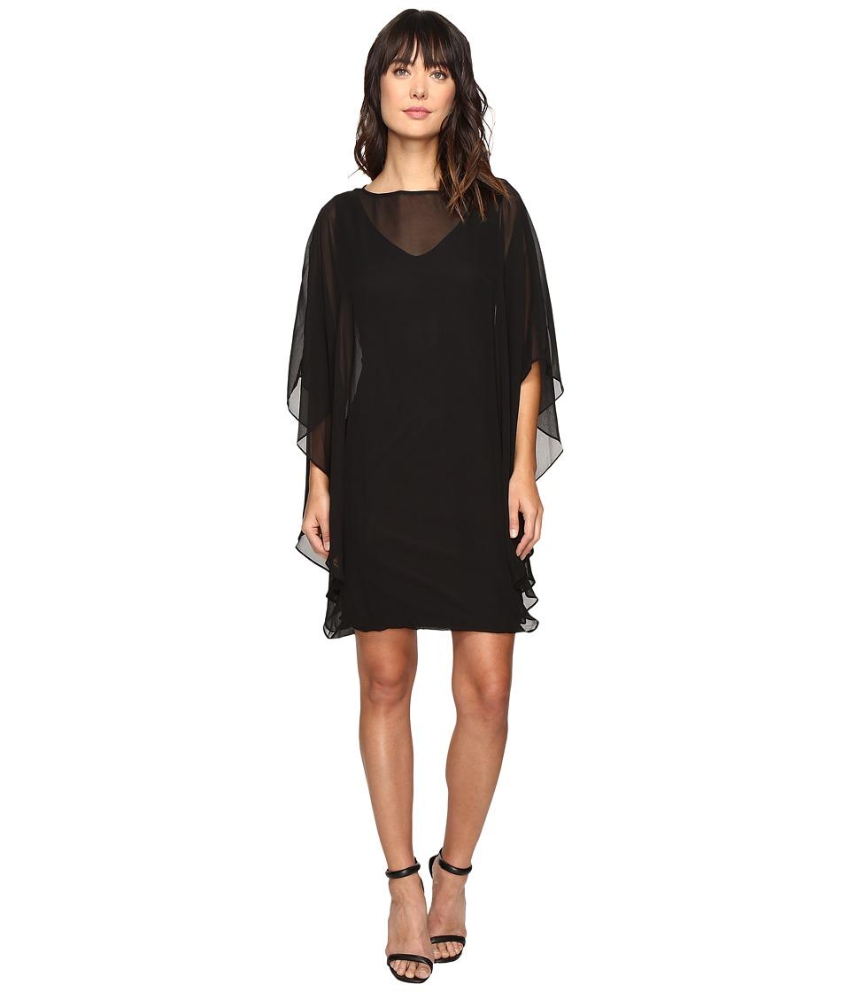 Christin Michaels Crevecoer Chiffon Dress (Black) Women