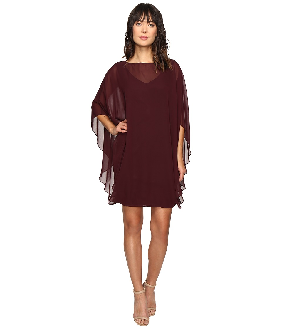 Christin Michaels Crevecoer Chiffon Dress (Raisin) Women