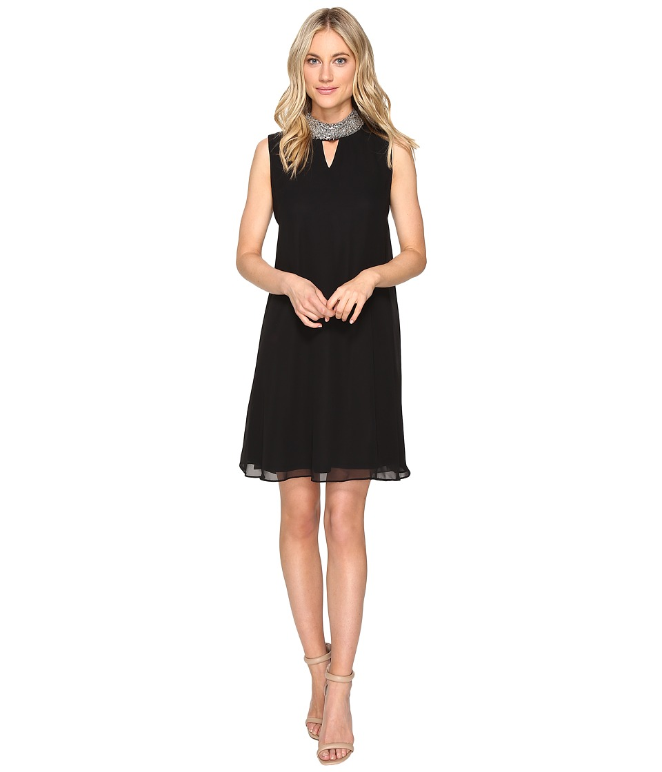 Christin Michaels Acanthius Trapeze Dress (Black) Women