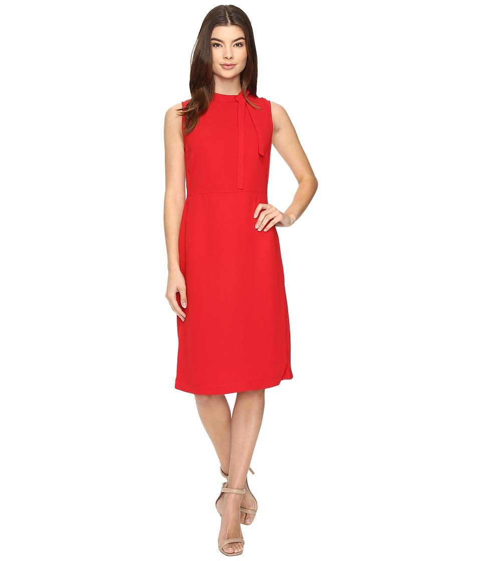 Christin Michaels Holland Sleeveless Dress (Red) Women