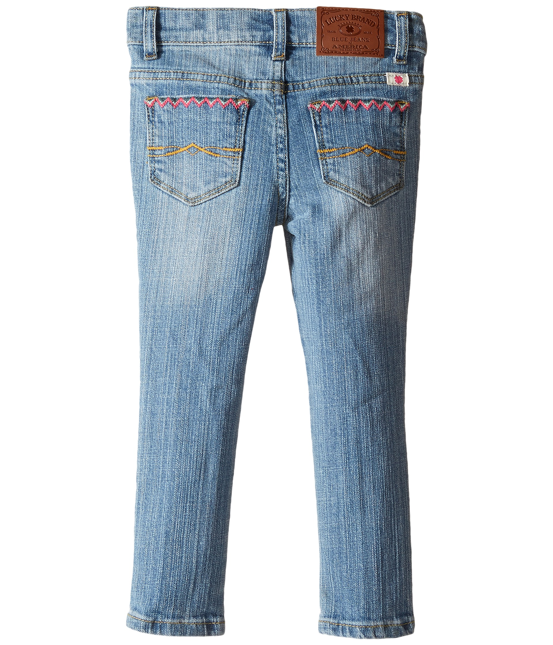 Lucky brand kids zoe jeans w embroidery toddler at