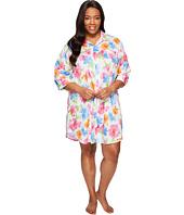 LAUREN Ralph Lauren - Plus Size Sateen 3/4 Sleeve Sleepshirt