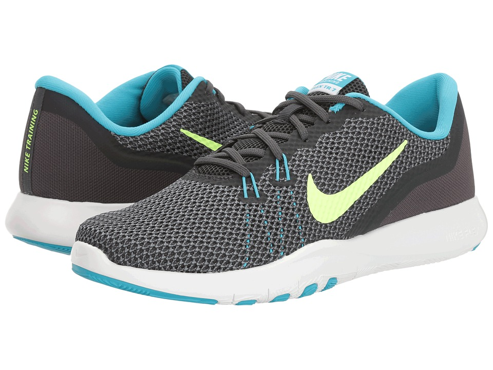 Nike - Flex TR 7 (Anthracite/Ghost Green/Chlorine Blue) Womens Cross Training Shoes