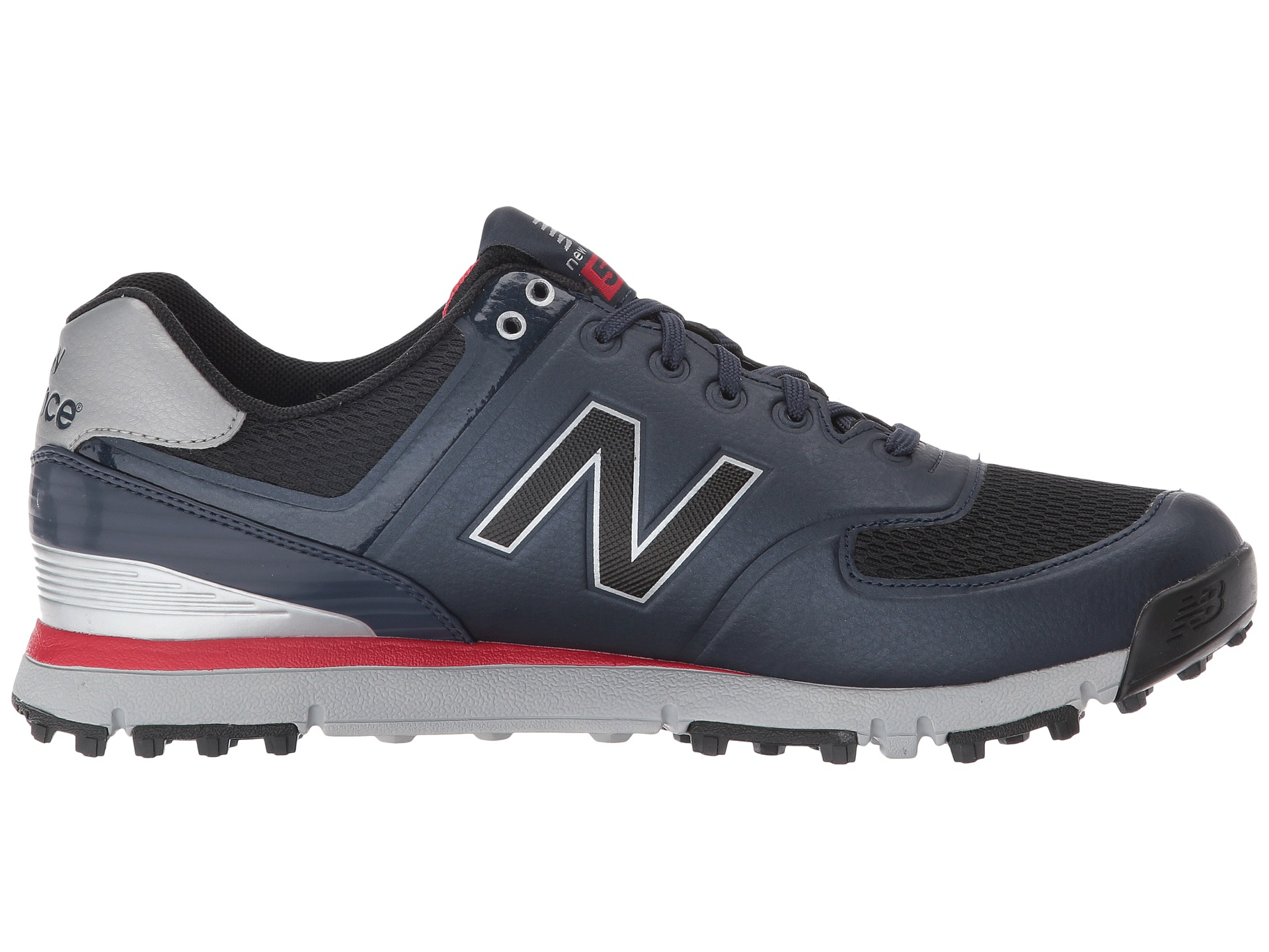 New Balance Nbg Spikeless Golf Shoes Navy Red