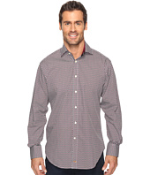Thomas Dean & Co. - Long Sleeve Micro Print Sport Shirt
