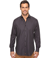 Thomas Dean & Co. - Long Sleeve Mini Check Sport Shirt