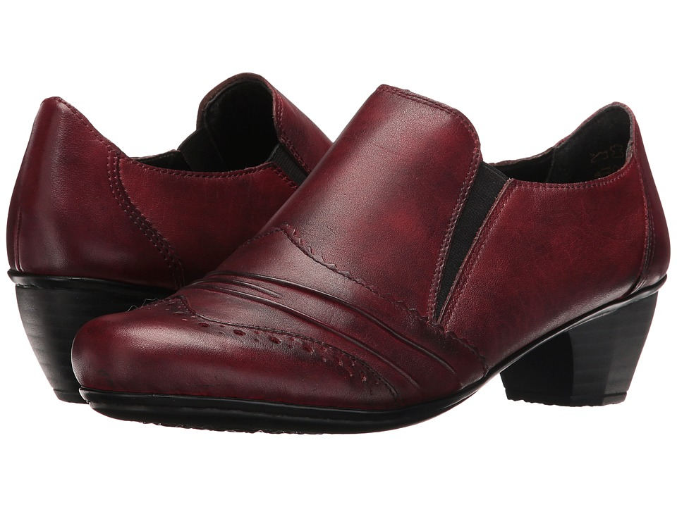 Rieker - 41730 (Medoc/Burgund Cristallino/Bogota) Women's Slip-on Dress Shoes