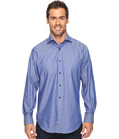 Thomas Dean & Co. - Long Sleeve Dot Sport Shirt French Cuff