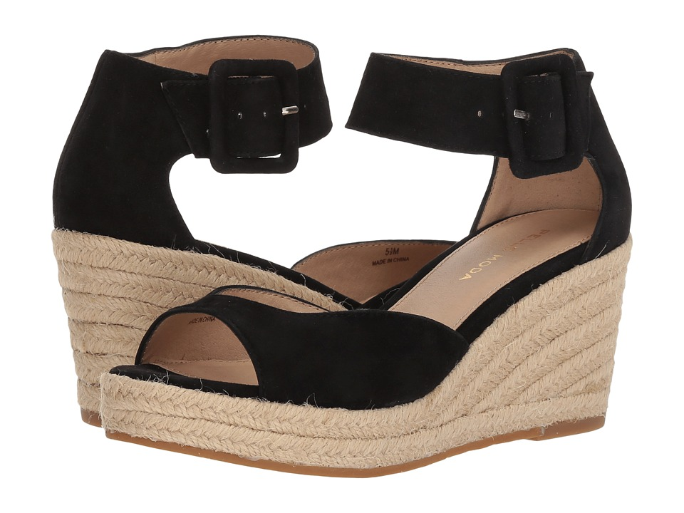 Pelle Moda Kauai (Black Suede) Women's Shoes