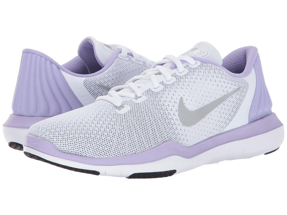 Nike Flex Supreme TR 5 (White/Metallic Silver/Hydrangeas) Women