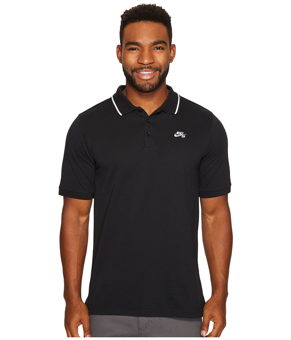 Nike SB - SB Dry Polo Pique Tip Short Sleeve (Black/White...