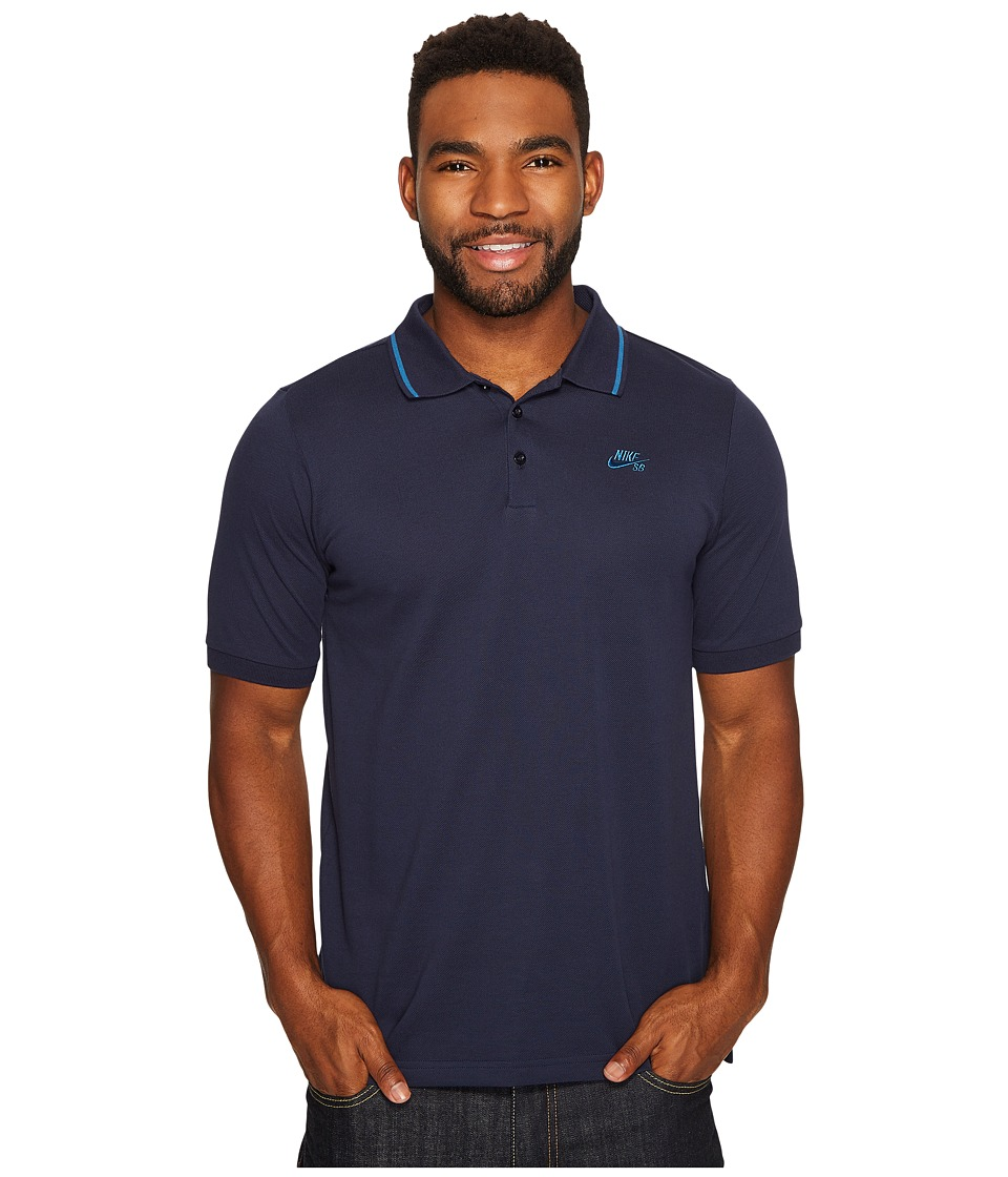 Nike SB - SB Dry Polo Pique Tip Short Sleeve (Obsidian/In...