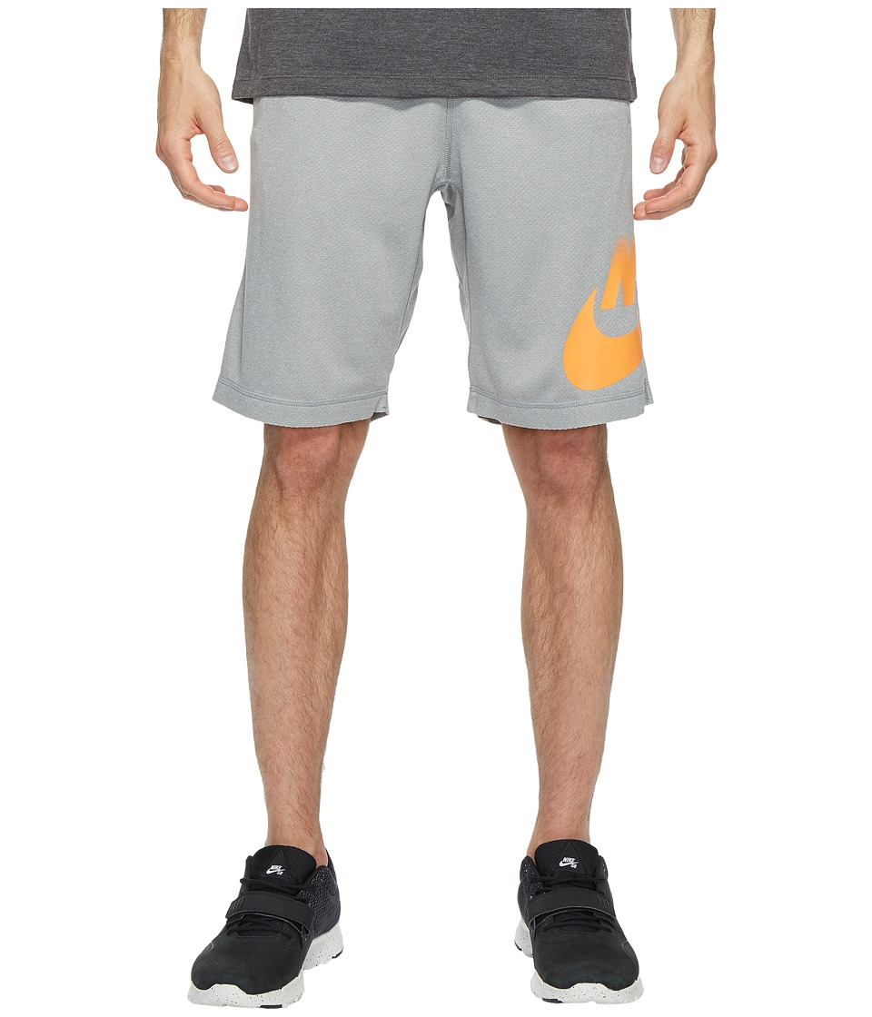 Nike SB SB Dry Shorts Sunday Fade (Dark Grey Heather/Bright Mandarin) Men