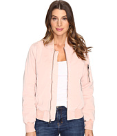 Hudson - Gene Puffy Bomber Jacket in Sunkissed Pink Destructed