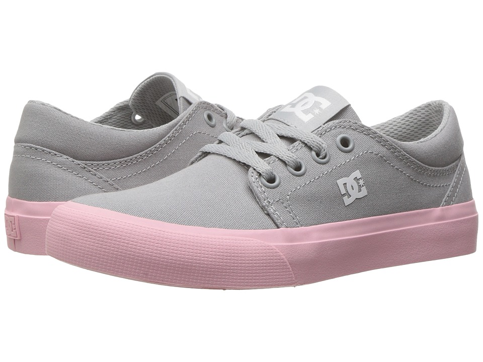 DC Kids Trase TX (Little Kid/Big Kid) (Grey/White) Girls Shoes