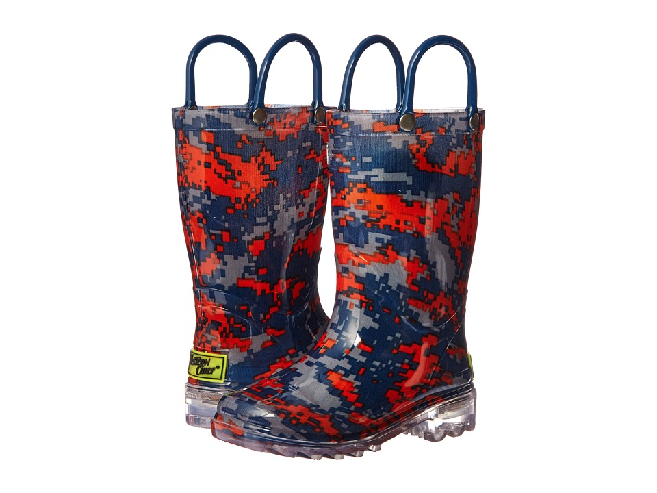 Western Chief Kids Digital Camo Lighted Rain Boot (Toddler/Little Kid) (Navy) Boys Shoes