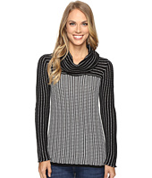 Calvin Klein - Grid-Striped Cowl Neck Sweater