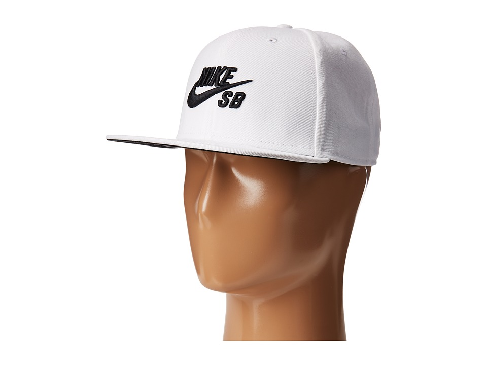 Nike - Icon Snapback (White/White/Black/Black) Caps