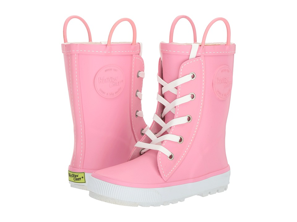 Western Chief Kids Sneaker Boot Rain Boot (Toddler/Little Kid/Big Kid) (Pink) Girls Shoes