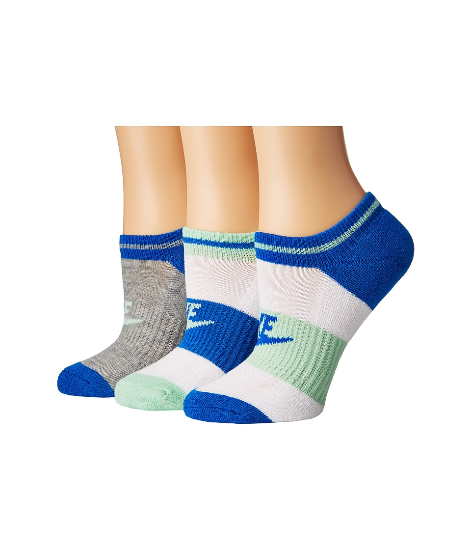 Nike - NSW 3-Pair Pack No Show Socks (Multicolor 4) Women's No Show Socks Shoes
