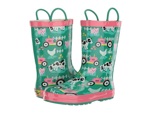 Western Chief Kids Farm Fun Rain Boot (Toddler/Little Kid) - Aqua
