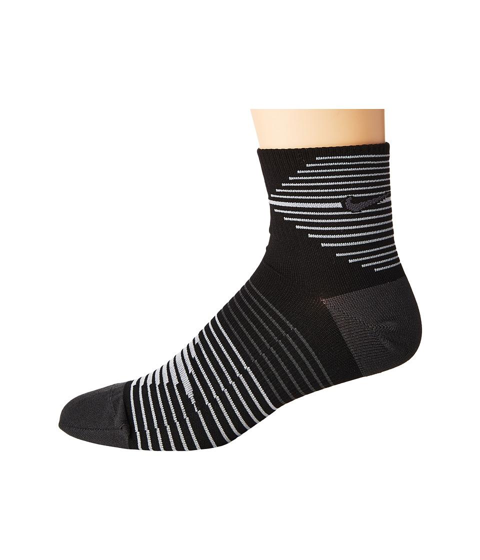 Nike - Running Dri-Fit Lightweight Crew (Black/Anthracite/Anthracite) Crew Cut Socks Shoes