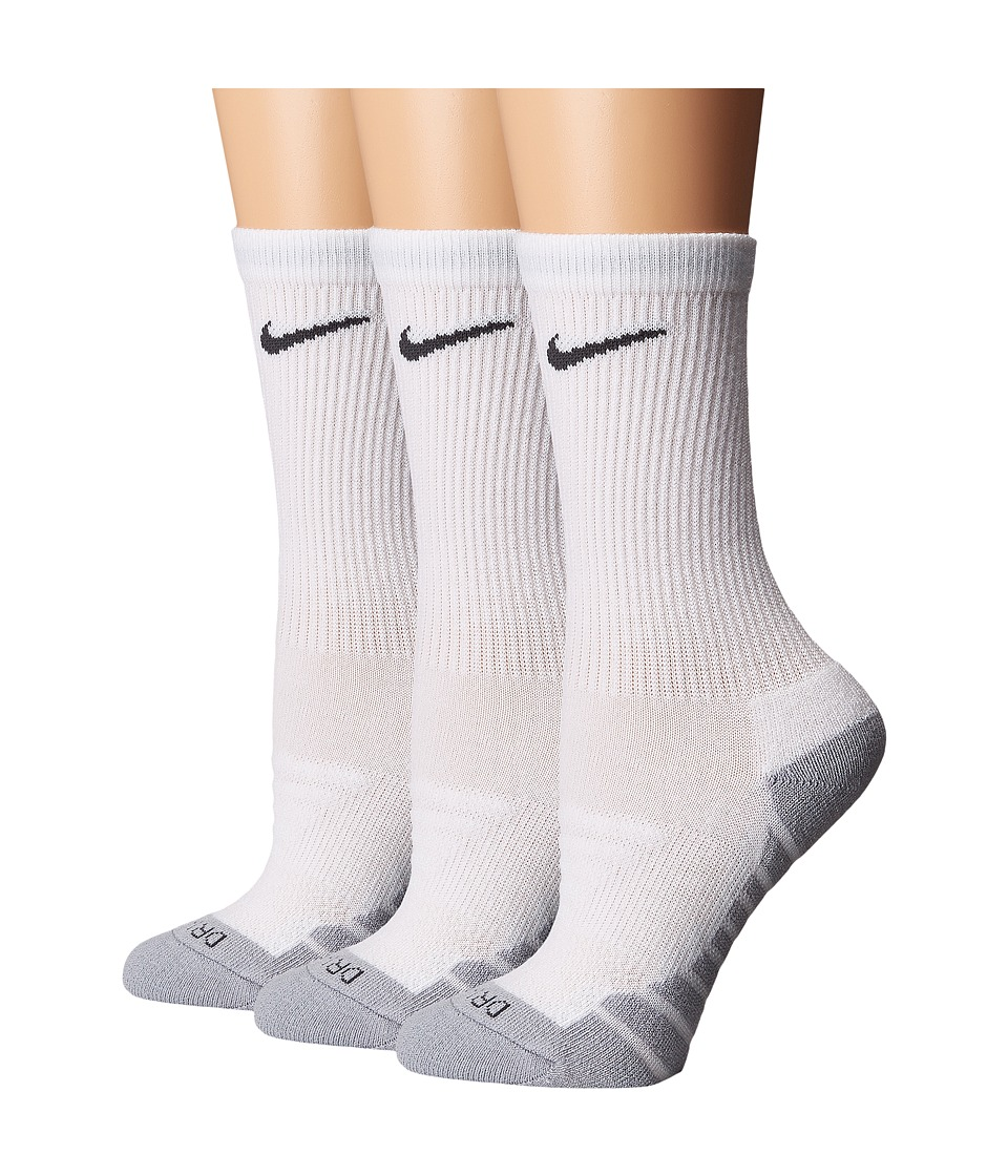 Nike Dry Cushion Crew Training Socks 3-Pair Pack (White/W...
