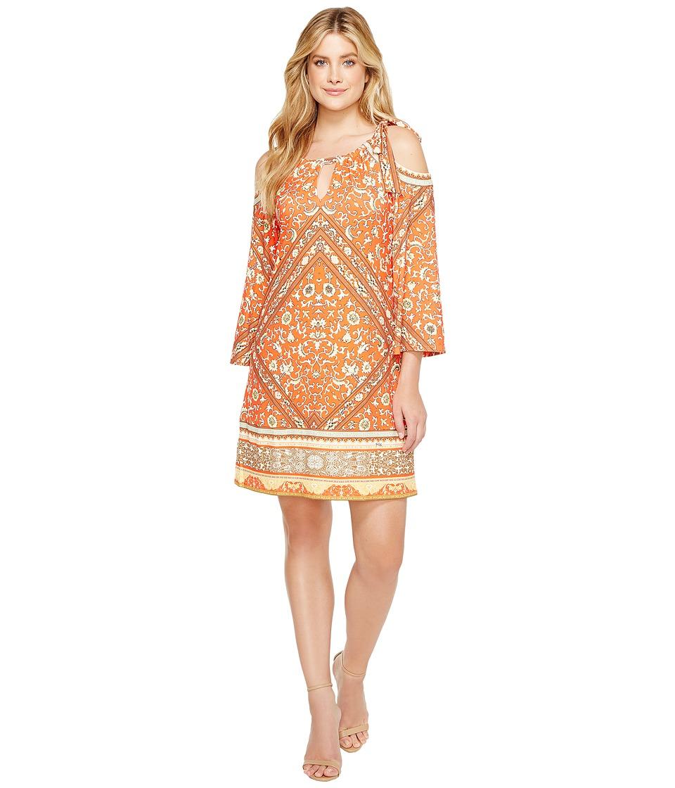 Hale Bob - Sun Kissed Microfiber Jersey Cold Shoulder Dress
