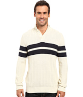 Nautica - 9 Gauge Chevron Striped Mock Neck Sweater