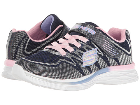SKECHERS KIDS Dream N Dash 81131L (Little Kid/Big Kid) - Navy/Pink