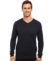 Nautica - Solid V-Neck Sweater