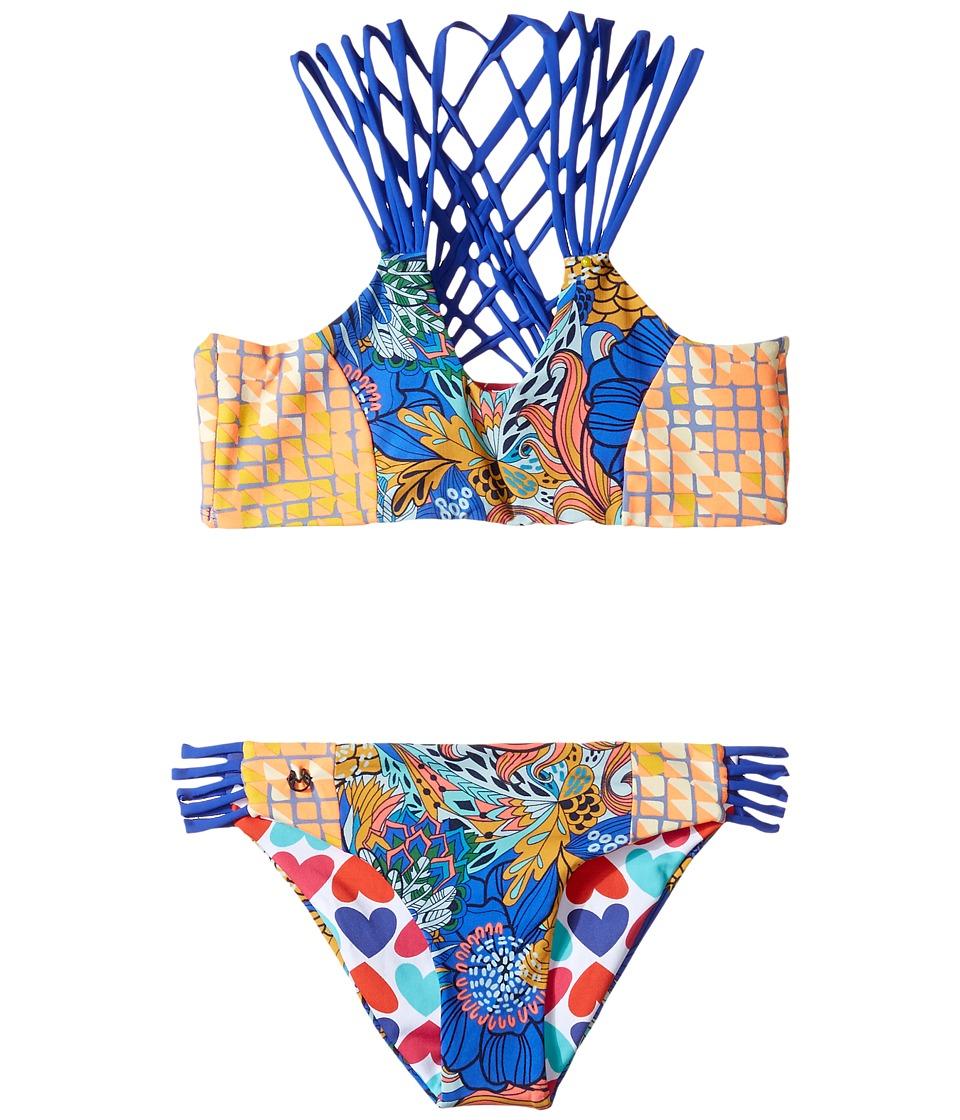 Maaji Kids Psychodelic Twist Bikini Set (Toddler/Little Kids/Big Kids) (Multicolor) Girl