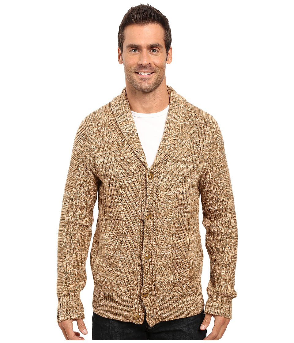 Men's Vintage Style Sweaters – 1920s to 1960s Nautica - 3 Gauge Spine Cable Cardigan Oyster Brown Mens Sweater $178.00 AT vintagedancer.com