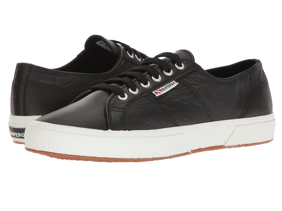 Superga 2750 Auleau (Black Leather) Lace up casual Shoes