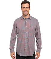 Nautica - Long Sleeve Wrinkle Resistant Small Check Shirt