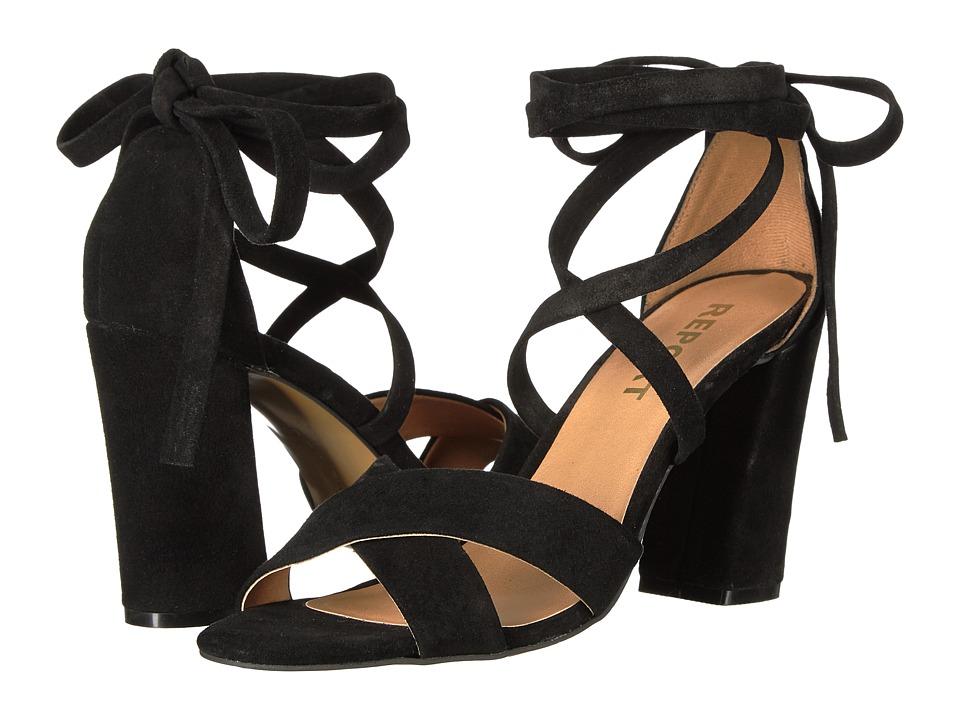 Report Mara (Black Suede) High Heels