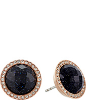 Fossil - Shimmer Glass Stone Studs Earrings