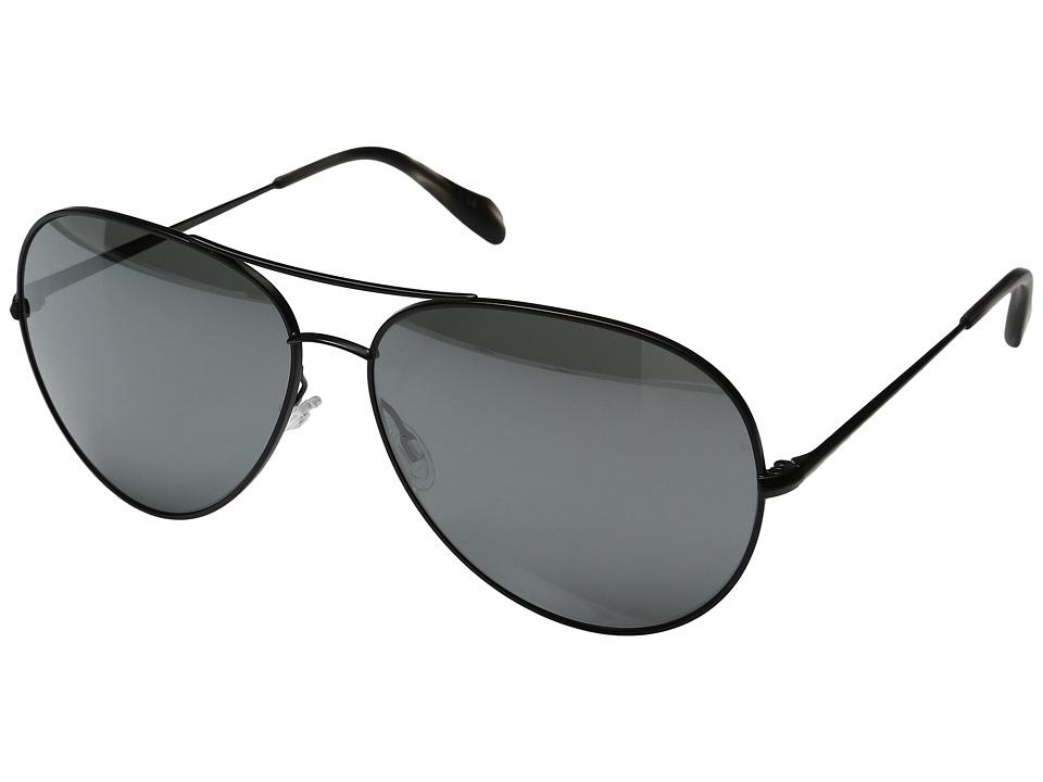 Oliver Peoples - Sayer (Matte Black/Black Satin Mirror) Fashion Sunglasses