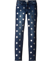 Hudson Kids - Five-Pocket Skinny with Foil Star Print Jeans in Sky Blue (Big Kids)