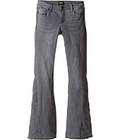 Hudson Kids - Five-Pocket Patchwork Flare Jeans in Iron Horse Grey (Big Kids)