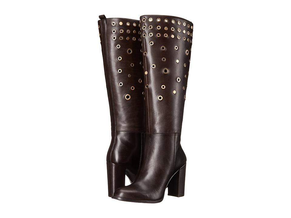 Nine West Quatrina (Dark Brown Leather 1) Women