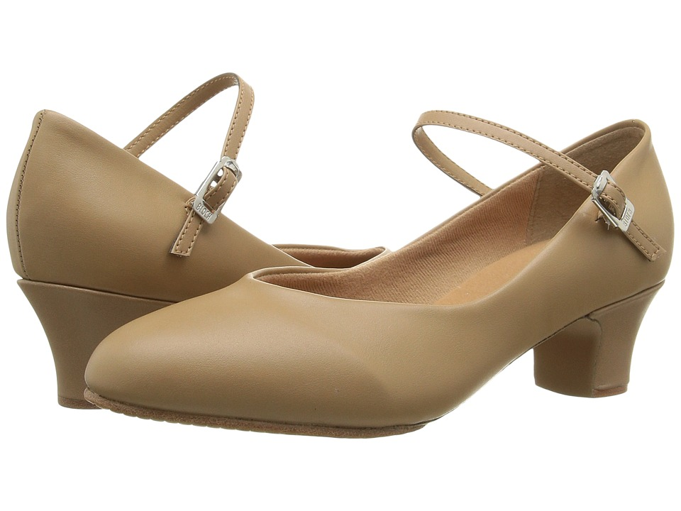 1940s Womens Shoe Styles Bloch - Broadway Lo Tan Womens Dance Shoes $41.00 AT vintagedancer.com