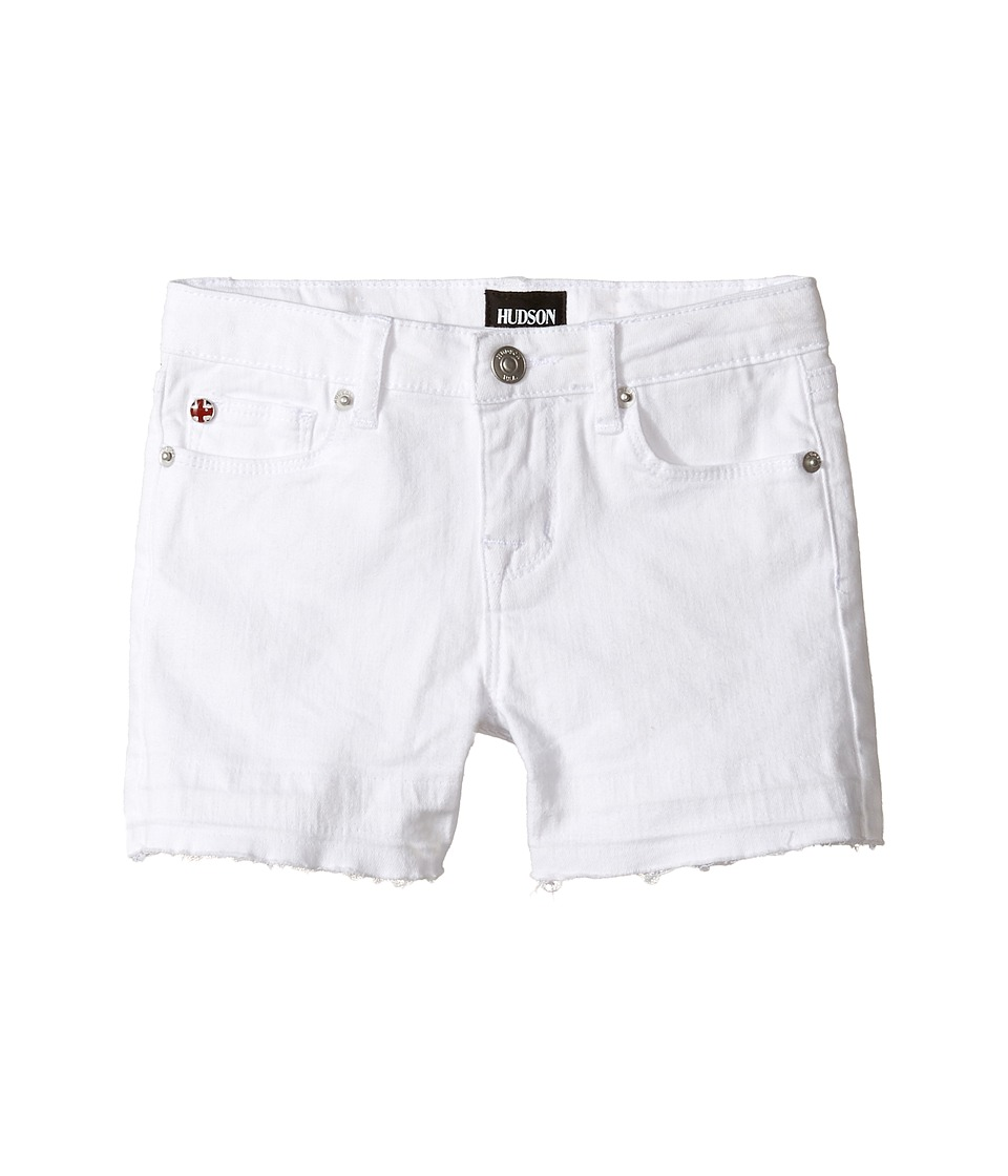 Hudson Kids - 3 Fray Shorts in White (Toddler/Little Kids) (White) Girls Shorts